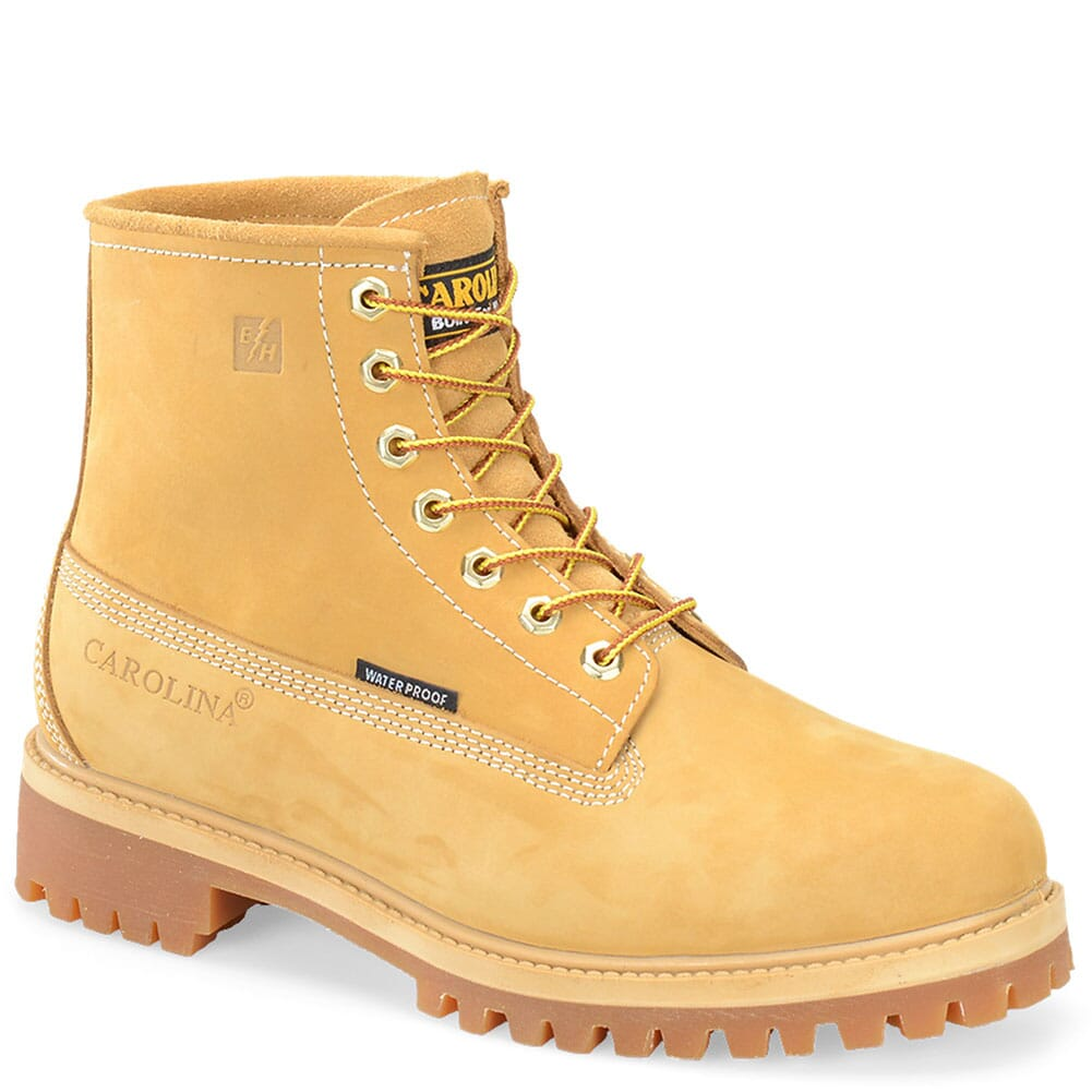 Image for Carolina Men's Oil Resistant Work Boots - Wheat from bootbay