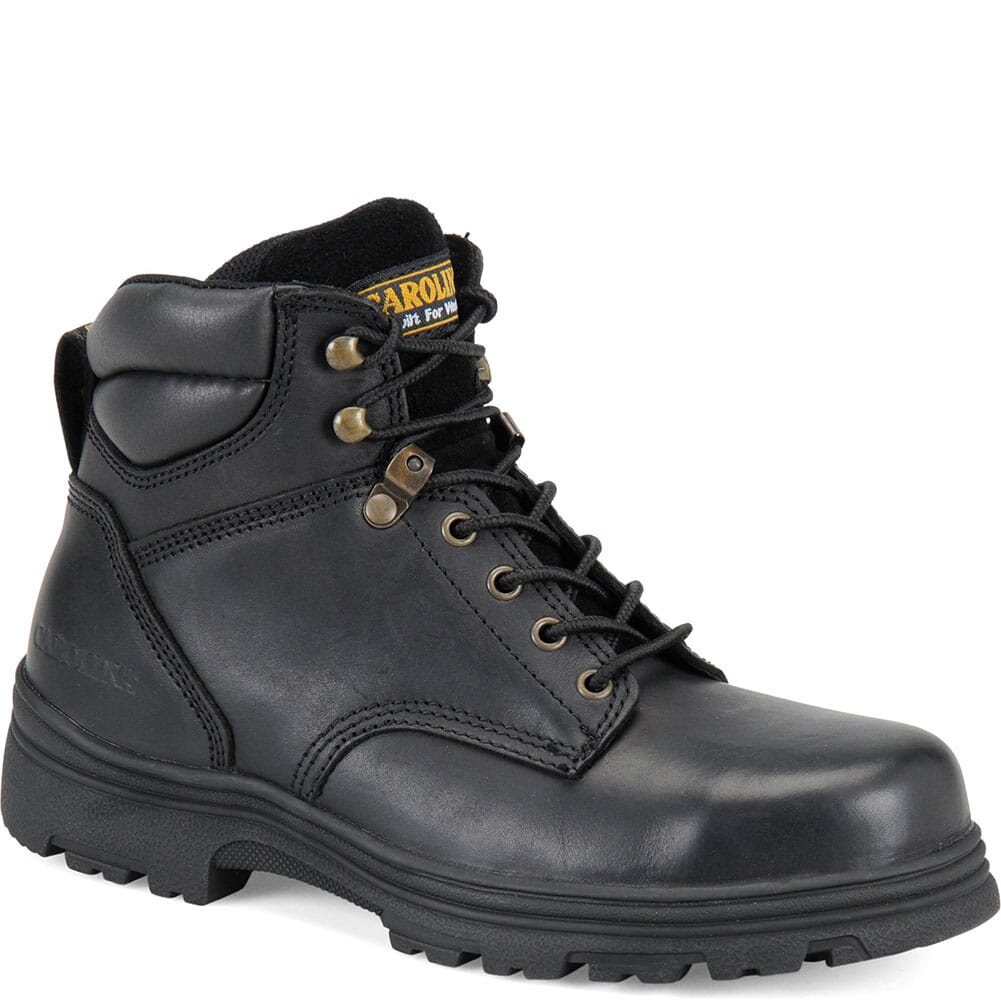 Image for Carolina Men's EH Leather Safety Boots - Black from bootbay