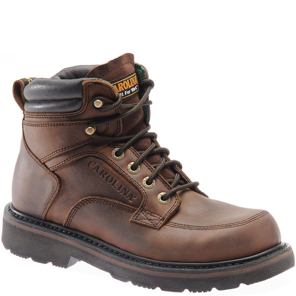 Image for Carolina Men's Oblique Toe Work Boots - Dark Brown from bootbay