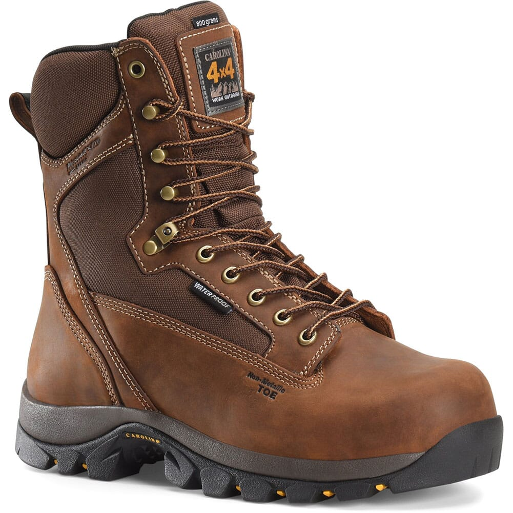 Image for Carolina Men's WP 8IN INS Safety Boots - Brown from bootbay