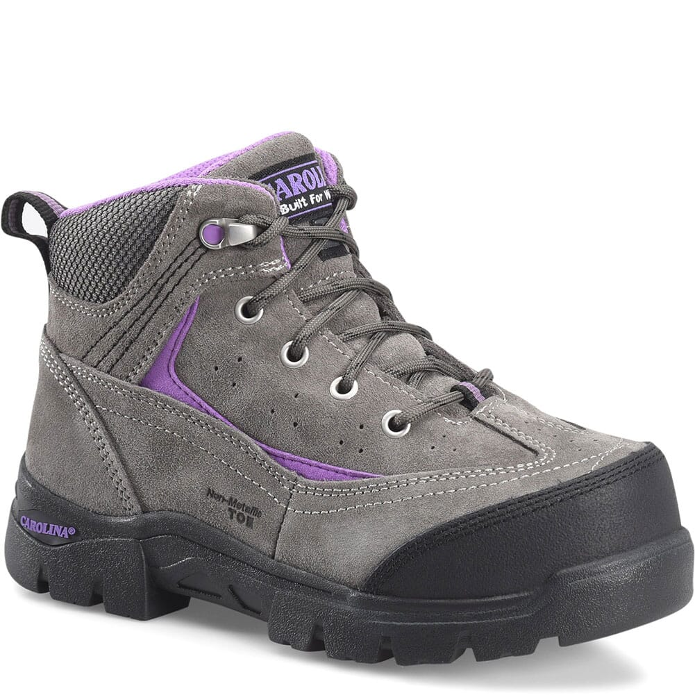 Image for Carolina Women's Reese MetGuard Safety Boots - Gray/Purple from bootbay