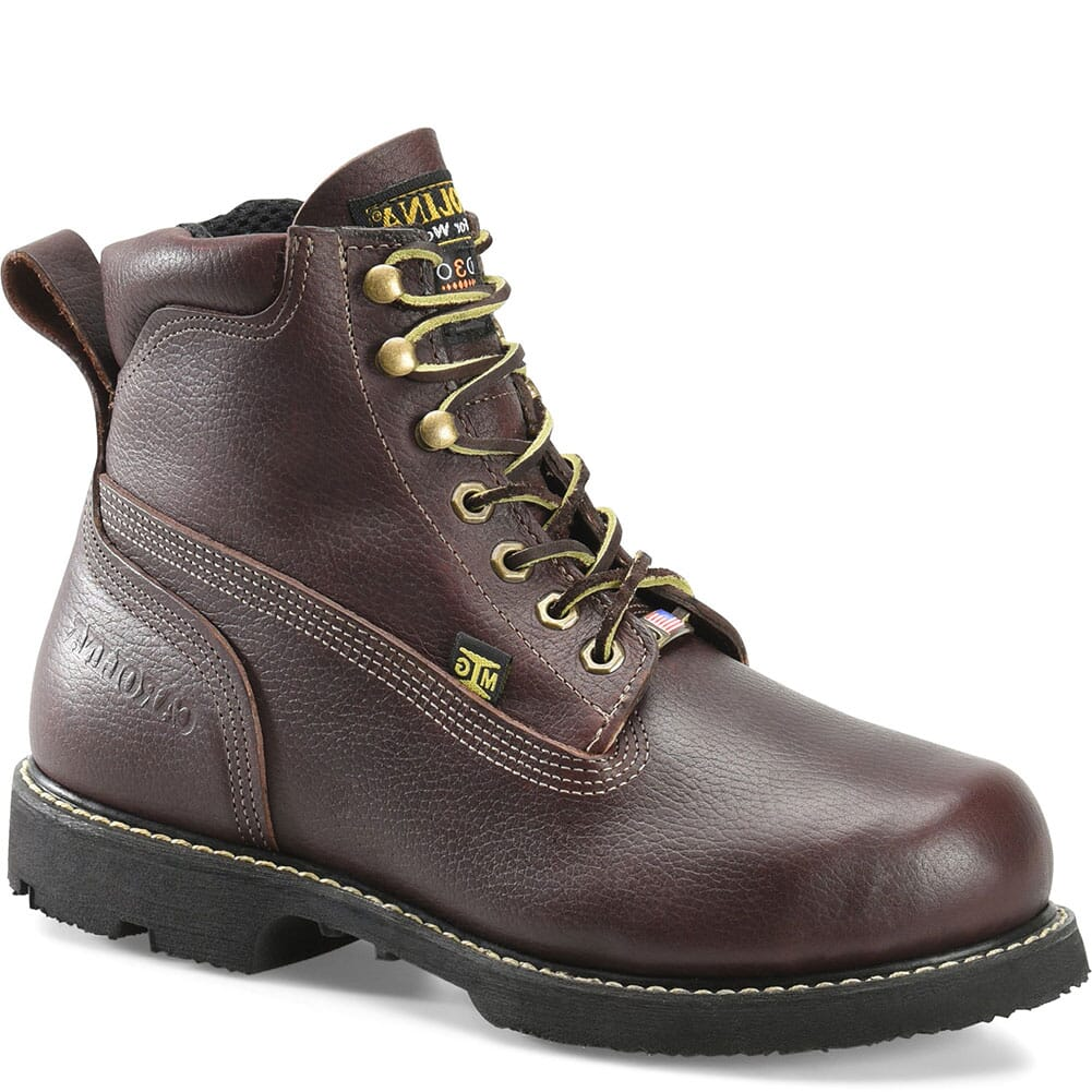 Image for Carolina Men's Winged D3O Internal Met EH Safety Boots - Brown from bootbay