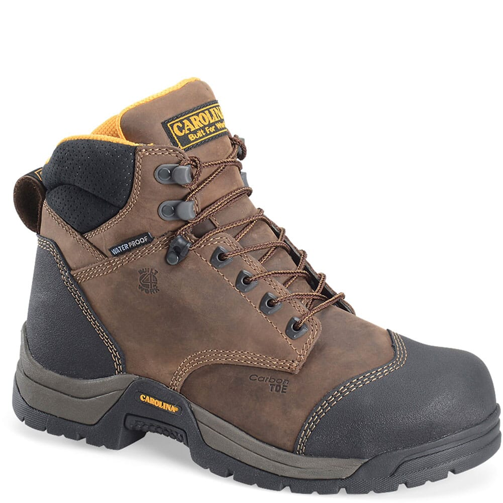 Image for Carolina Men's ESD Waterproof Safety Boots - Brown from bootbay