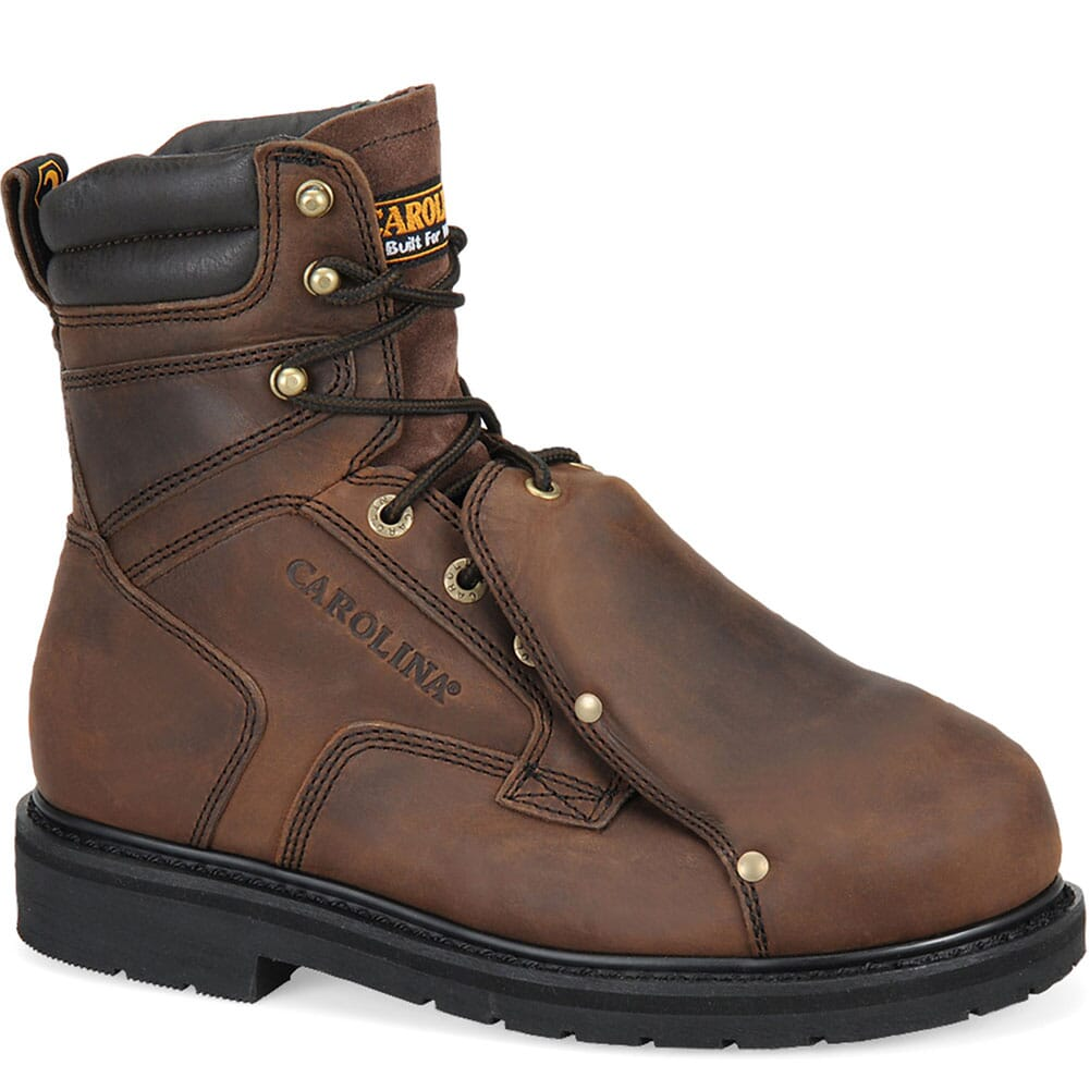 Image for Carolina Men's 8IN Safety Boots - Brown from bootbay