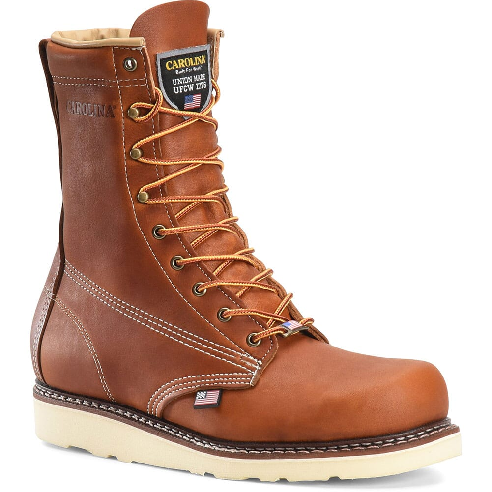 Image for Carolina Men's AMP USA Wedge Work Boots - Tobacco from bootbay