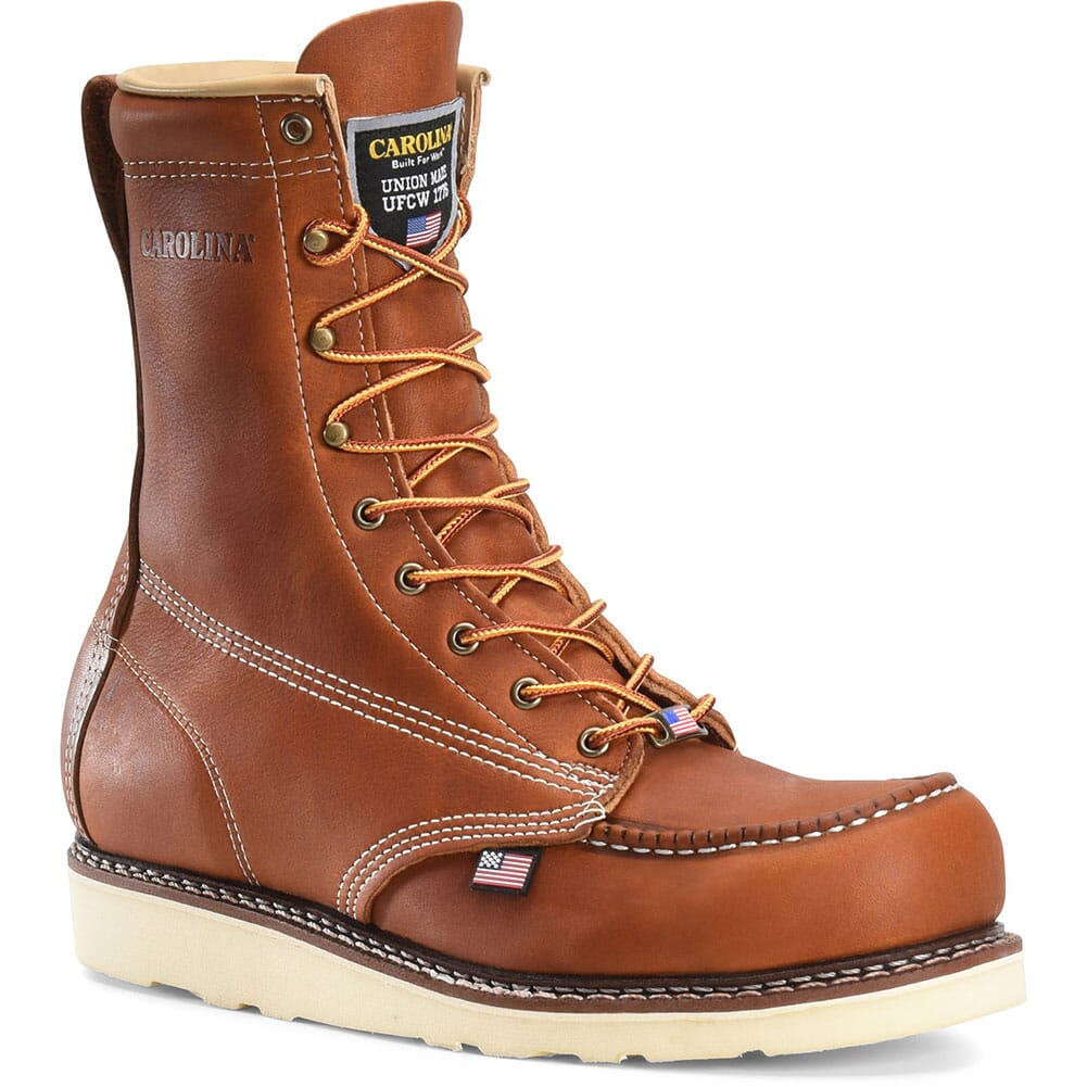 Image for Carolina Men's AMP Wedge 8IN Work Boots - Tobacco from bootbay