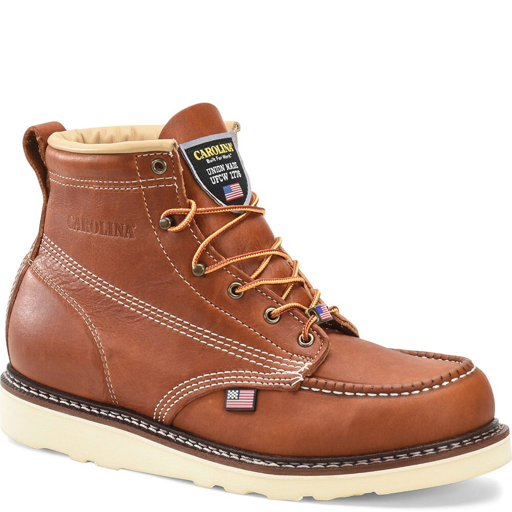 Image for Carolina Men's AMP Wedge Work Boots - Tobacco from bootbay