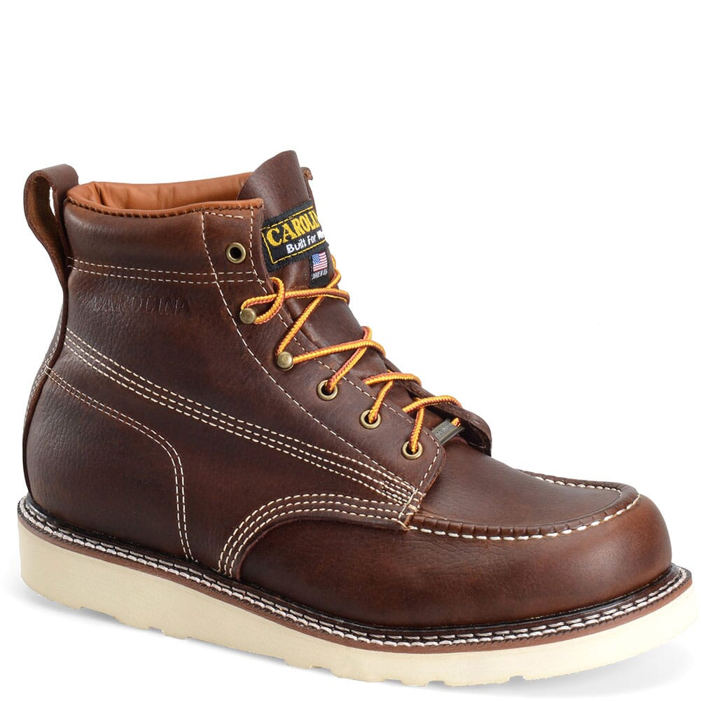 Image for Carolina Men's AMP Work Boots - Amber Gold from bootbay
