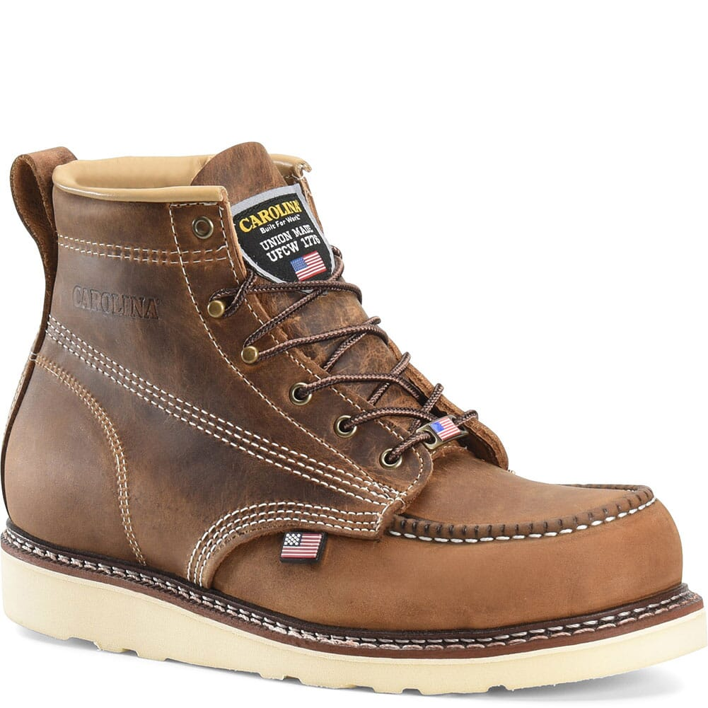 Image for Carolina Men's AMP Work Boots - Brown from bootbay