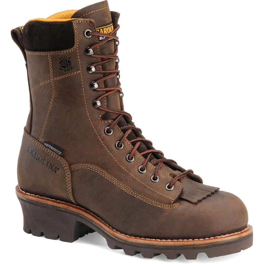 Image for Carolina Men's 8IN WP Work Logger - Gaucho from bootbay