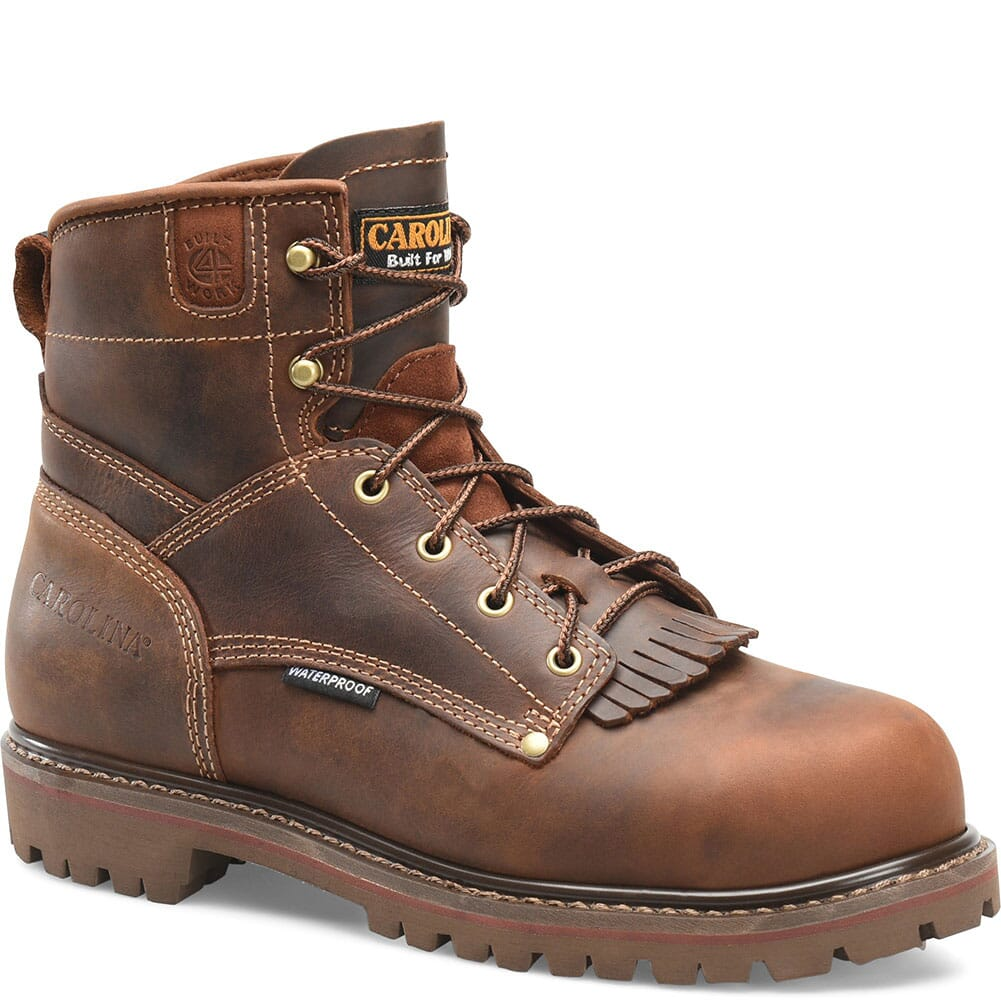 Image for Carolina Men's WP Heavy Duty Work Boots - Cigar Brown from bootbay