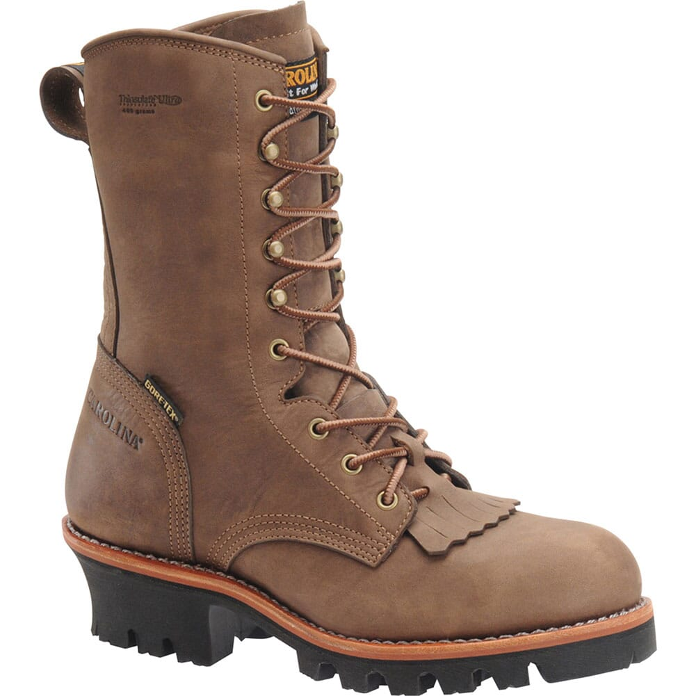 Image for Carolina Men's GORE-TEX Safety Loggers - Brown from bootbay