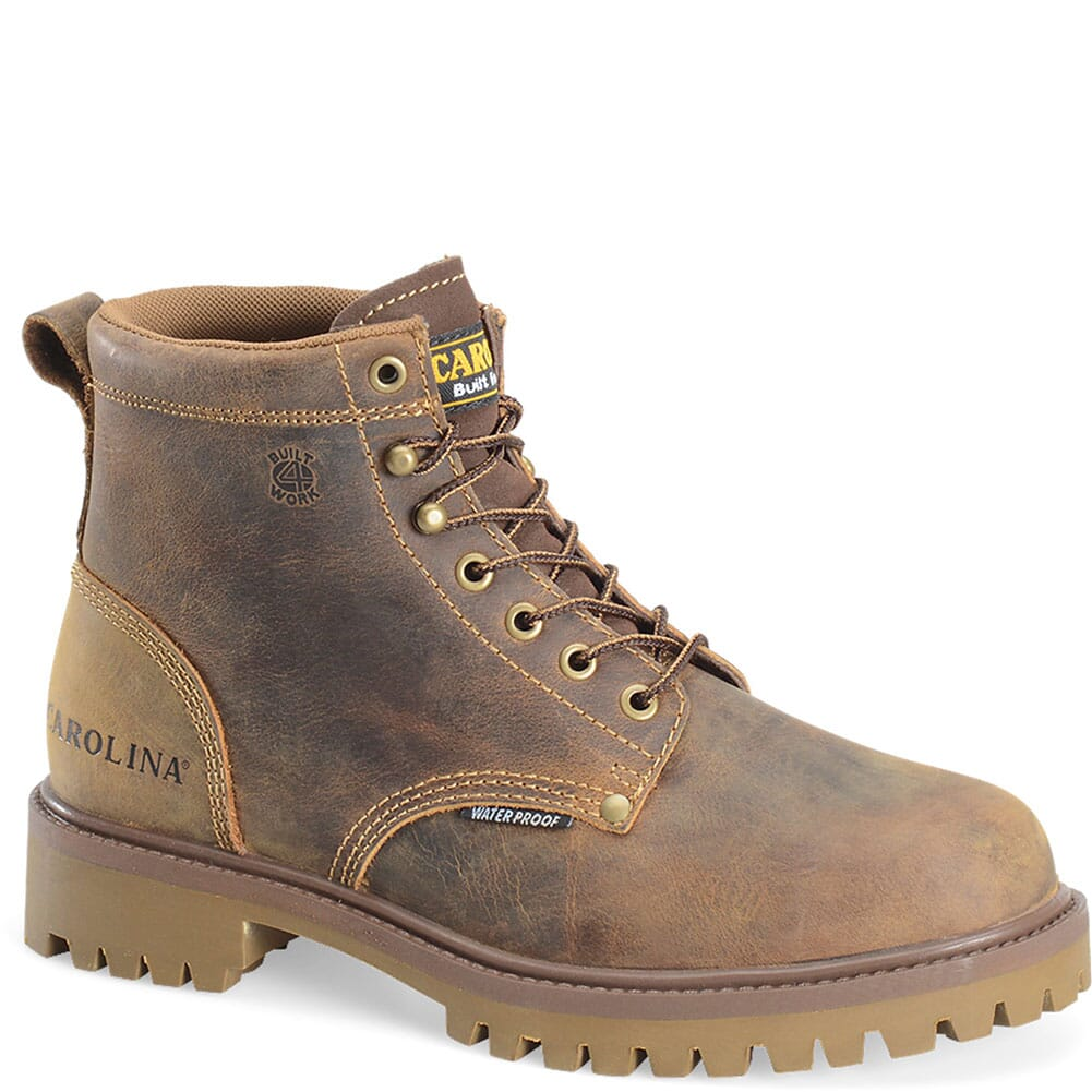 Image for Carolina Men's Steel Toe Waterproof Safety Boots - Brown from bootbay