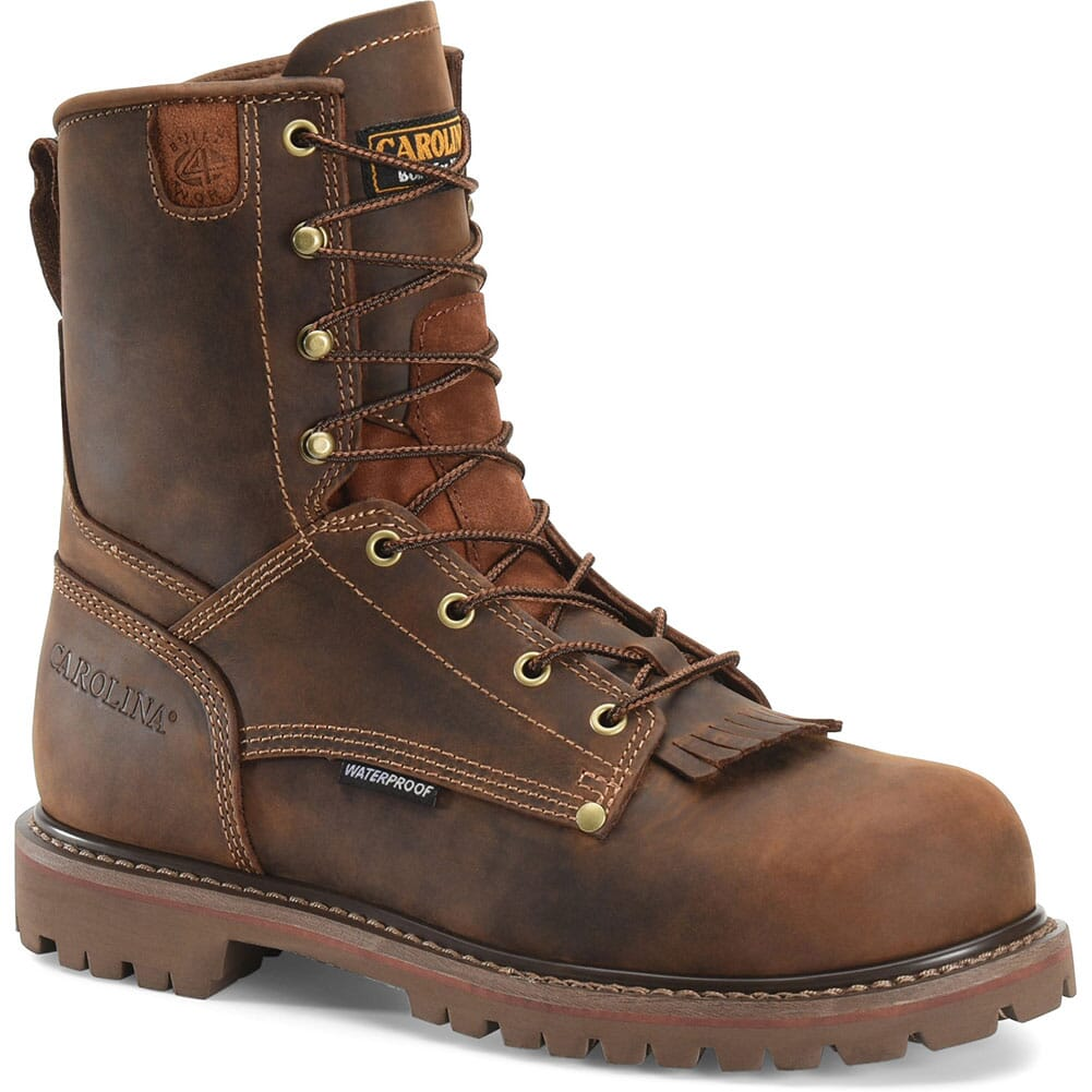 Image for Carolina Men's 8IN Grizzly Work Boots - Cigar from bootbay