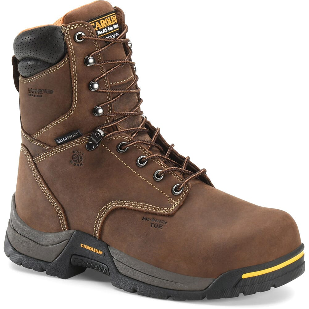 Image for Carolina Men's WP 600 Grams Safety Boots - Brown from bootbay