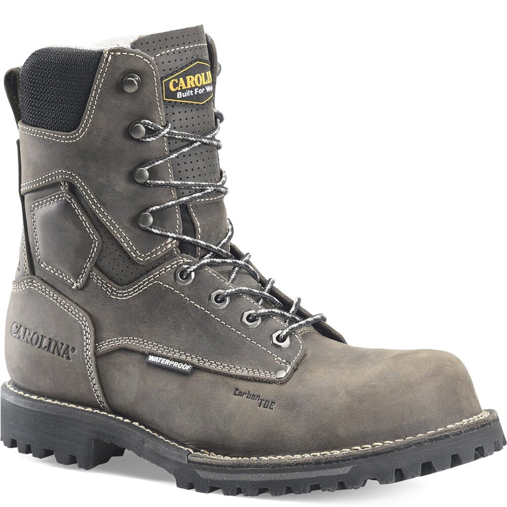 Image for Carolina Men's Waterproof Safety Boots - Grey/Black from bootbay