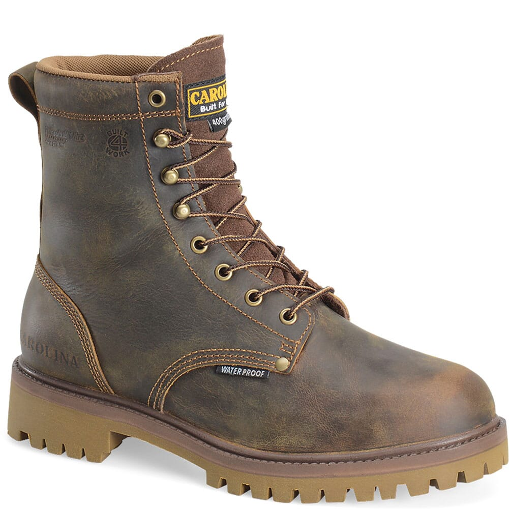 Image for Carolina Men's Waterproof Ins Safety Boots - Brown from bootbay