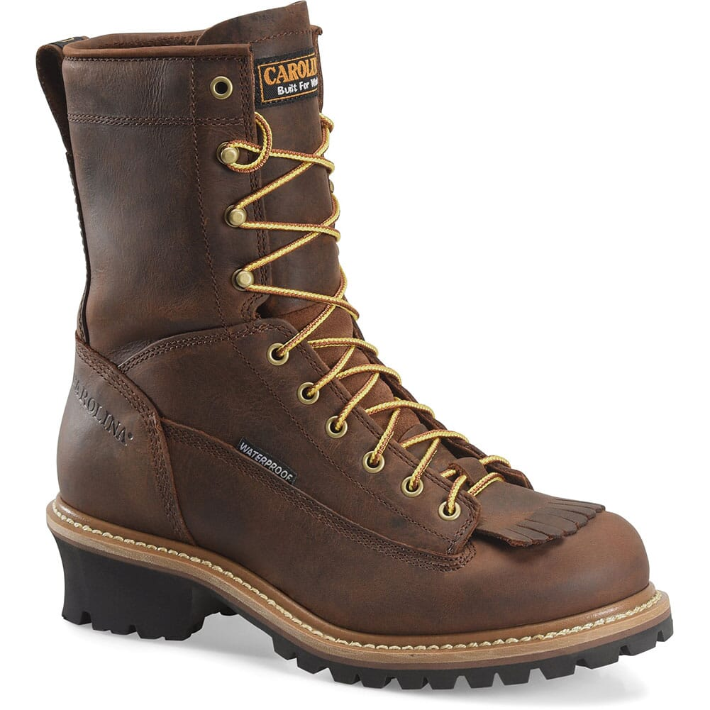 Image for Carolina Men's 8IN EH WP Work Loggers - Copper from bootbay