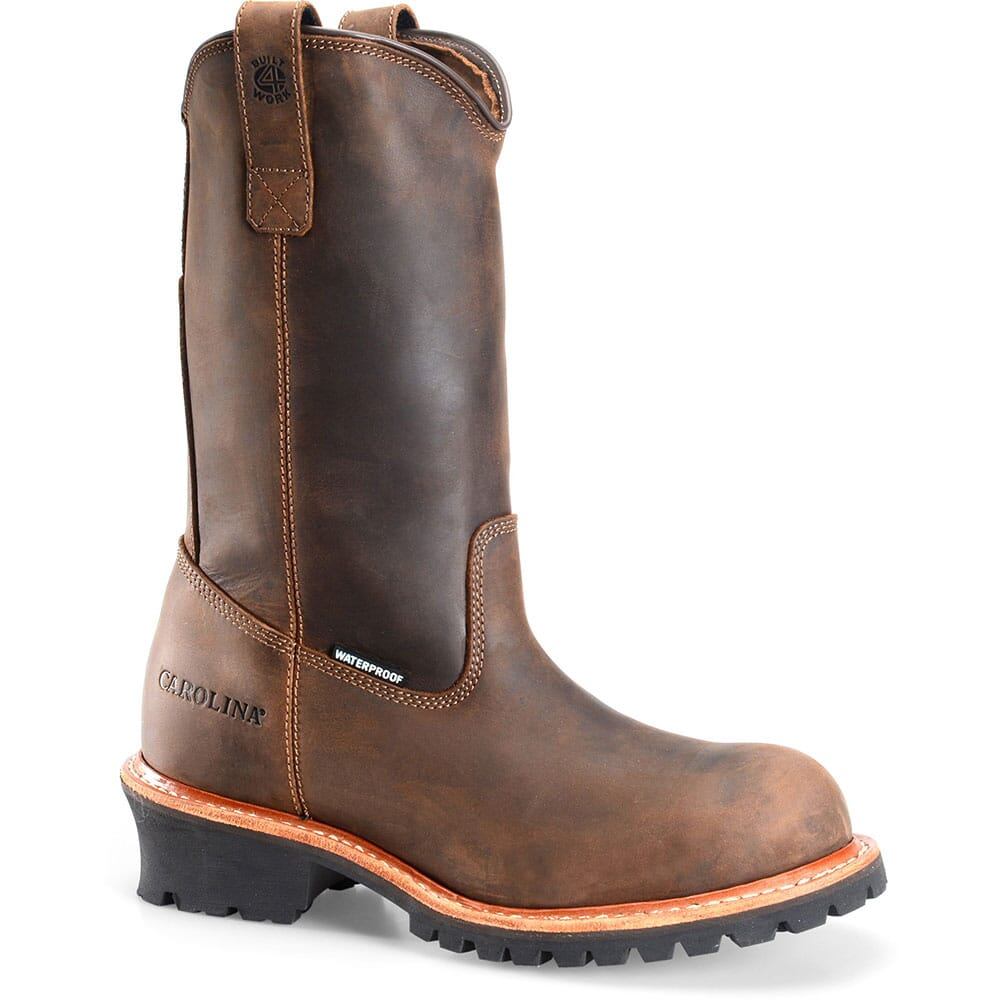 Image for Carolina Men's WELL X WP Work Logger - Tan Crazy Horse from bootbay