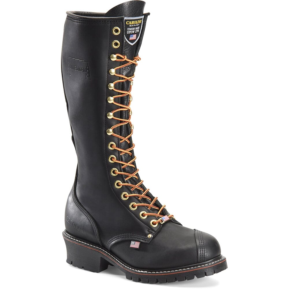 Image for Carolina Men's Linesman 16IN EH Work Boots - Black from bootbay