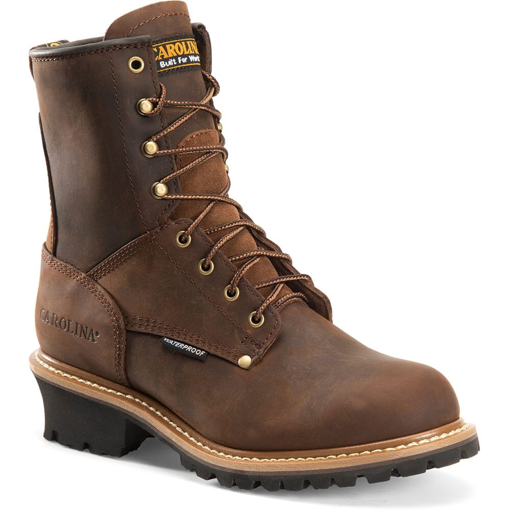 Image for Carolina Men's Waterproof Safety Loggers - Copper from bootbay