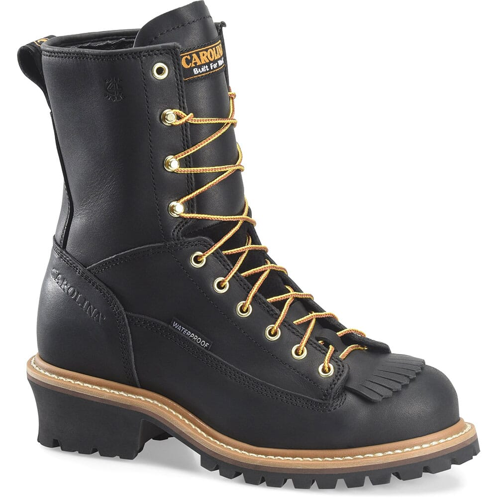 Image for Carolina Men's WP Lined Safety Loggers - Black from bootbay