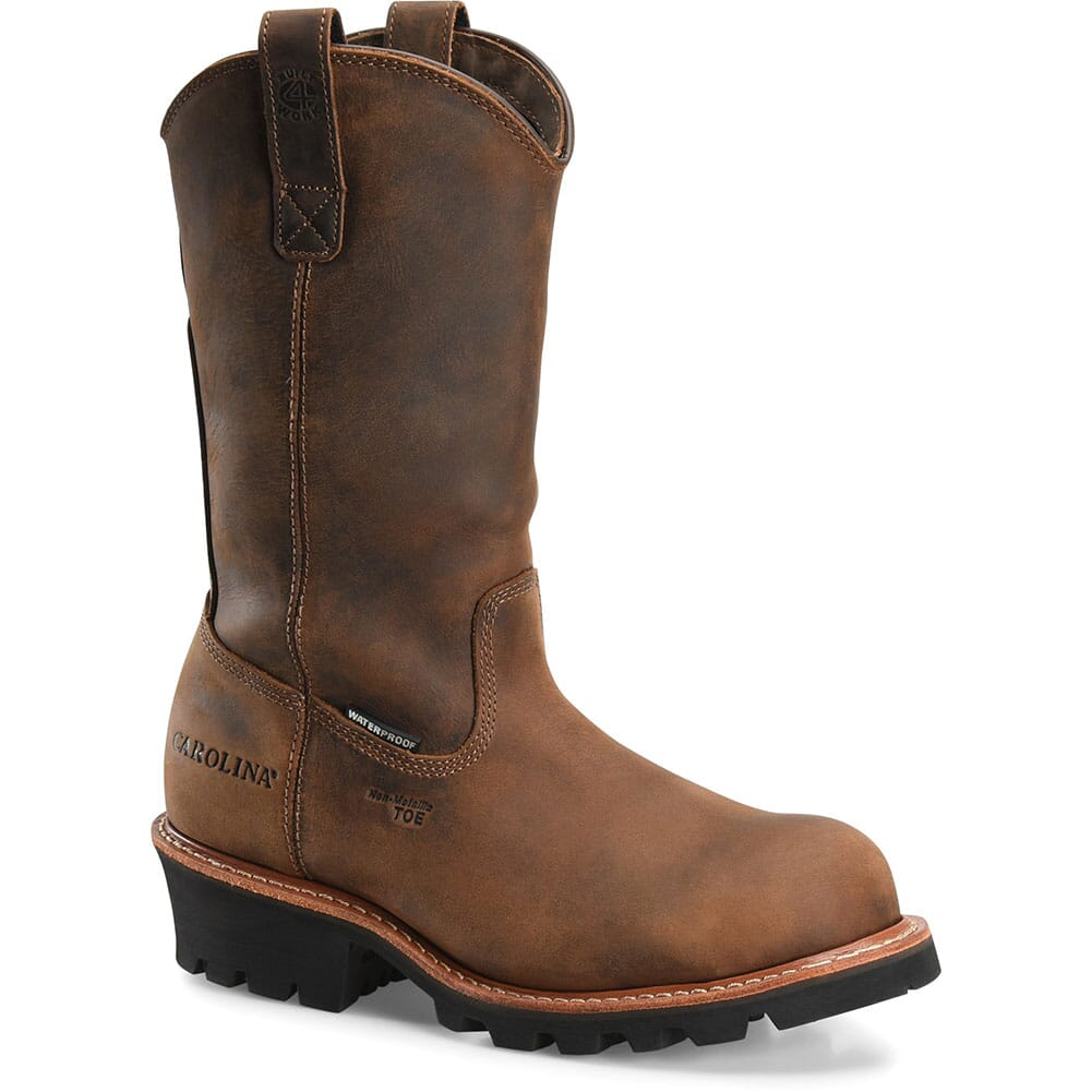Image for Carolina Men's WELL X WP Safety Logger - Tan Crazy Horse from bootbay