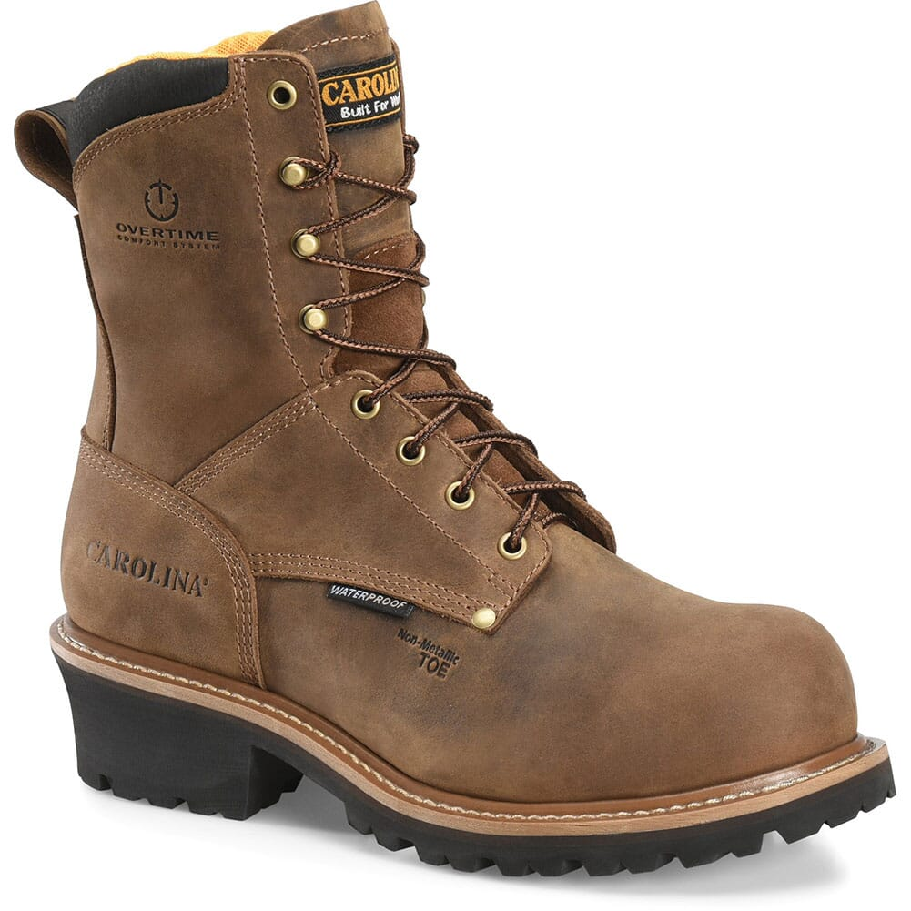 Image for Carolina Men's Poplar WP Safety Loggers - Brown from bootbay
