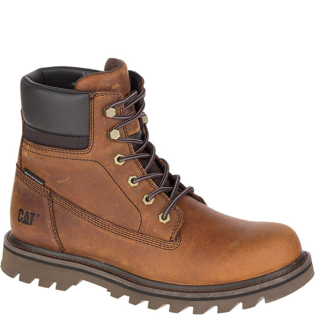 Men/'s CAT Construction Boots Caterpillar Founder Brown P721722