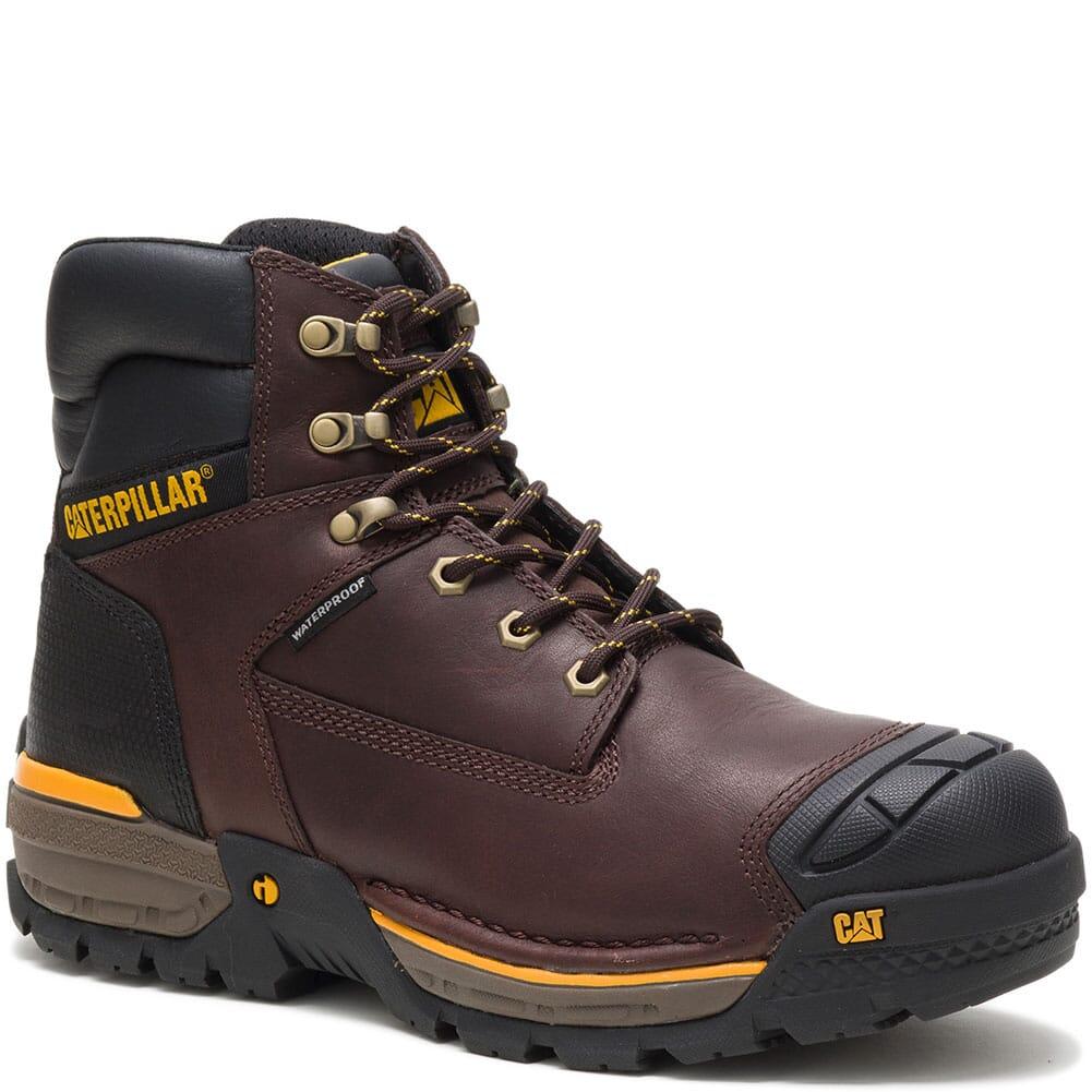 Image for Caterpillar Men's Excavator LT Waterproof Work Boots - Espresso from bootbay