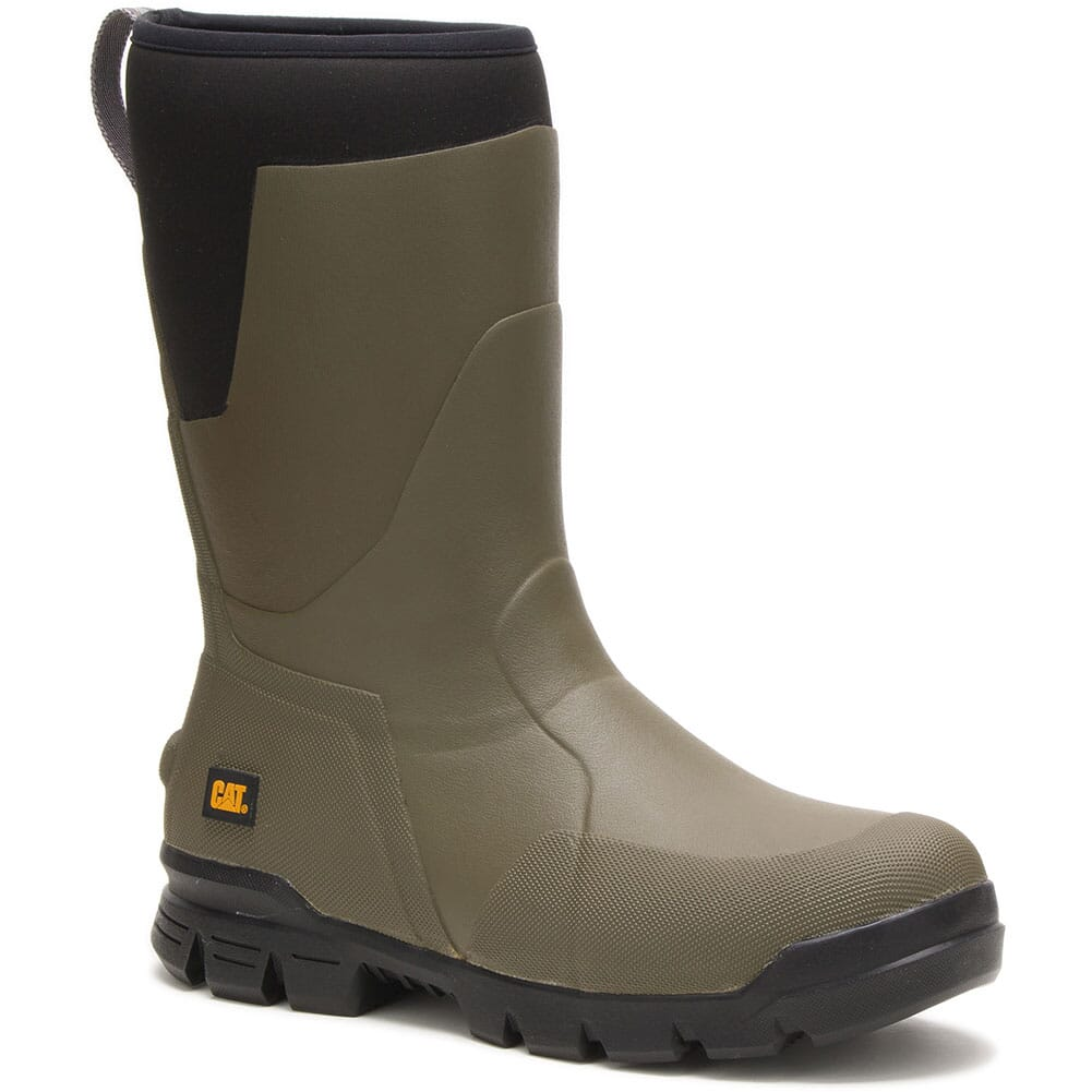Image for Caterpillar Unisex Stormers Tall Work Boots - Olive Night from bootbay