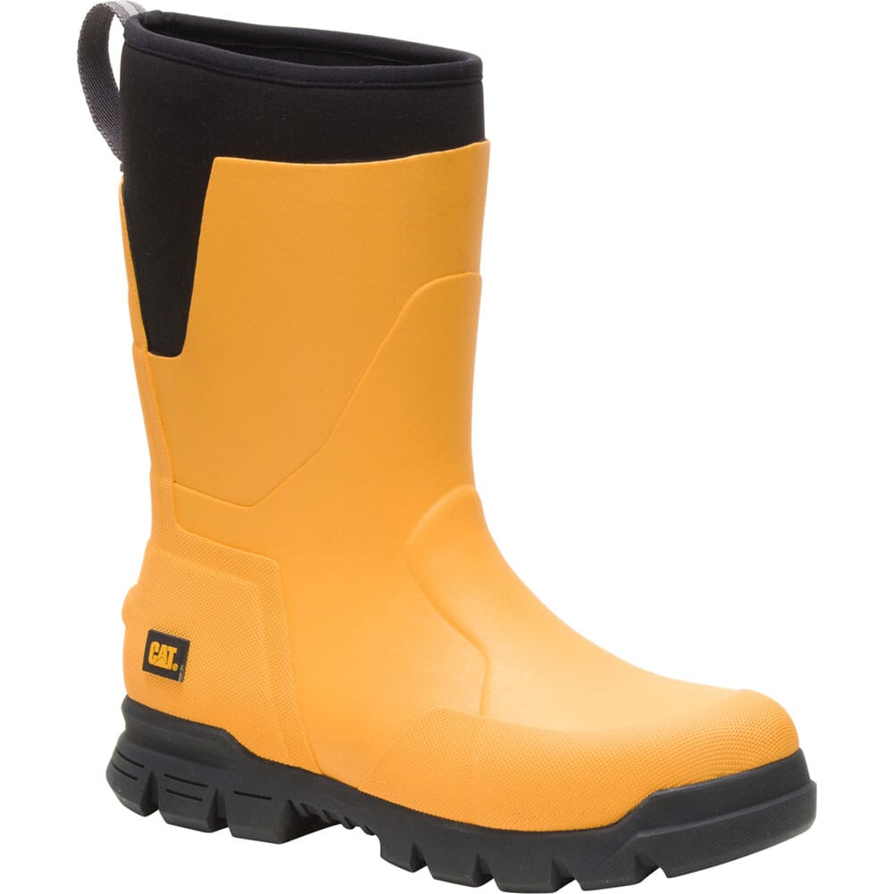 Image for Caterpillar Unisex Stormers Tall Work Boots - Cat Yellow from bootbay