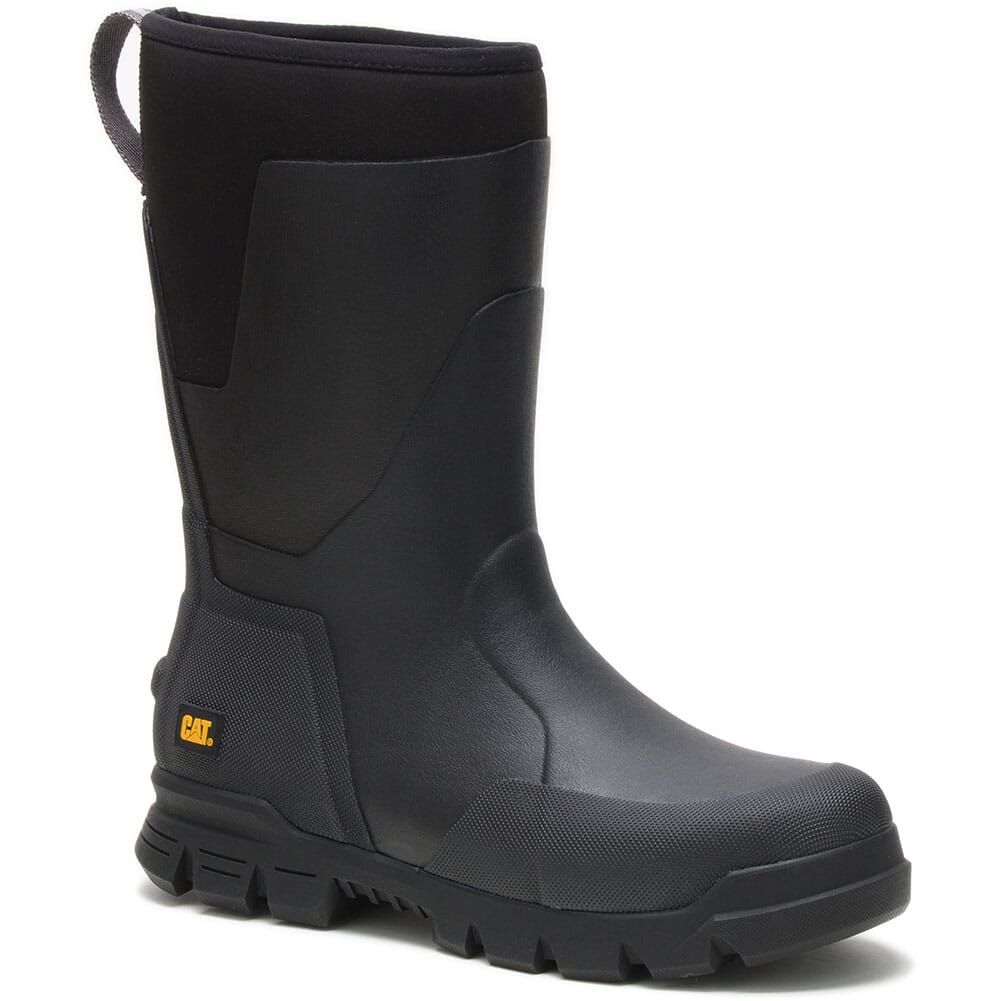 Image for Caterpillar Unisex Stormers Tall Work Boots - Black from bootbay