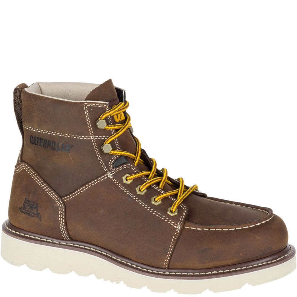 Image for Caterpillar Men's Tradesman Work Boots - Chocolate Brown from bootbay