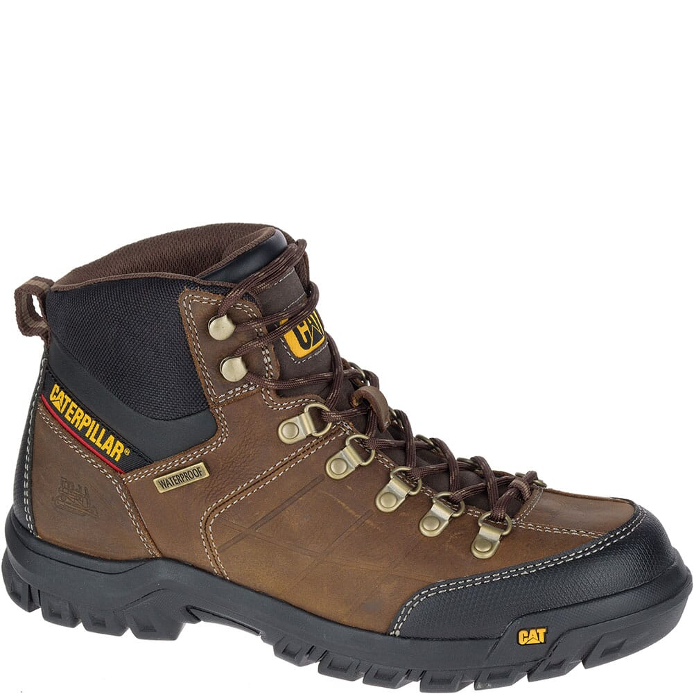 Image for Caterpillar Men's Threshold WP Work Boots - Real Brown from bootbay