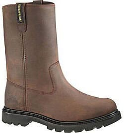 Image for Caterpillar Men's Revolver Wellington Safety Boots - Brown from bootbay