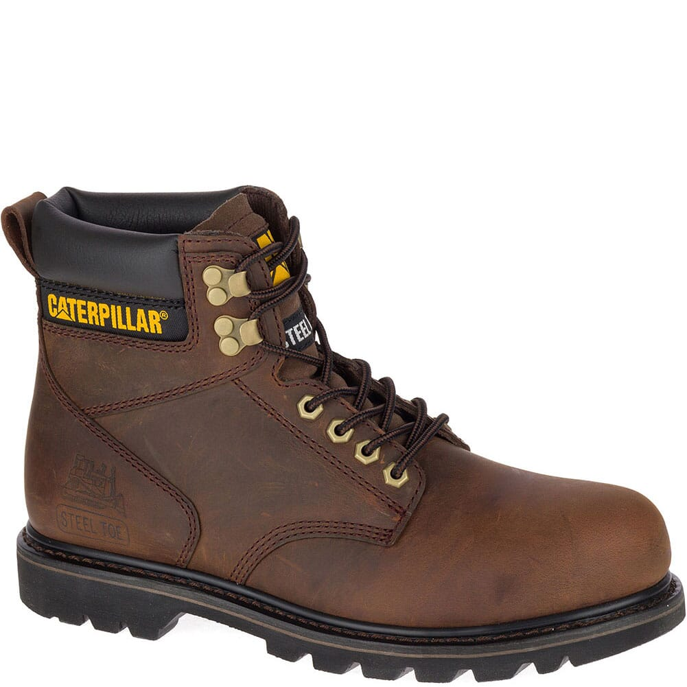 Image for Caterpillar Men's Second Shift SR Safety Boots - Dark Brown from bootbay
