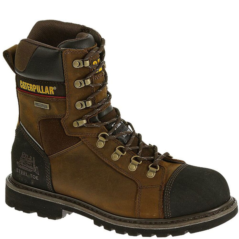 Image for Caterpillar Men's Tracklayer WP Safety Boots - Dark Brown from bootbay