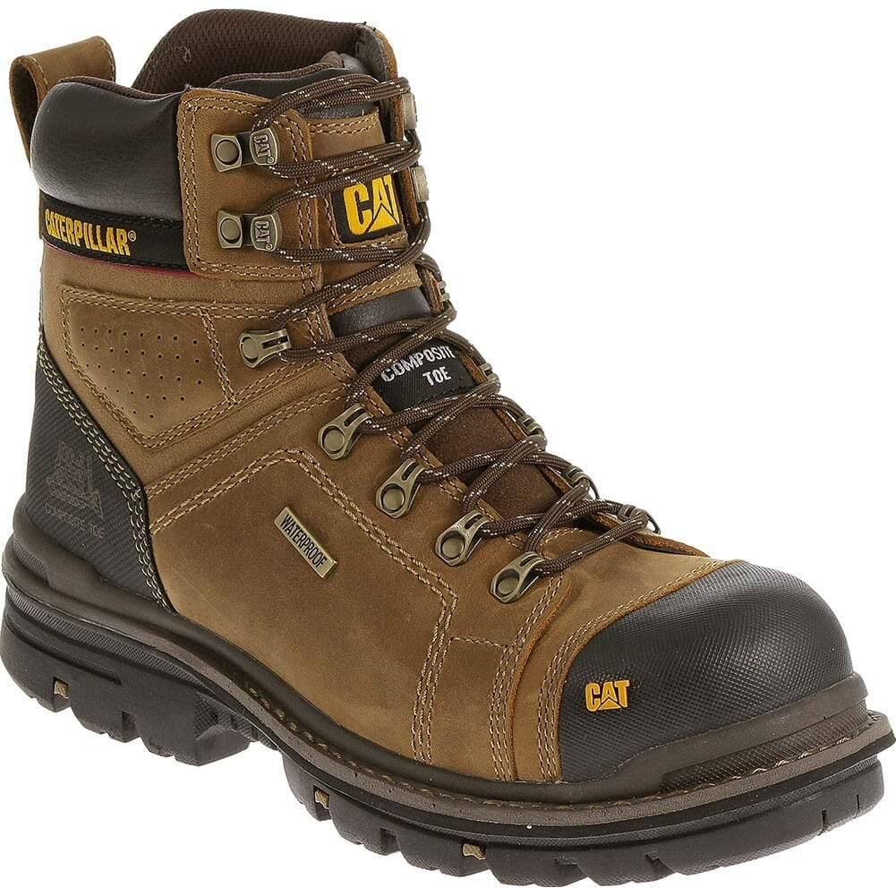 Image for Caterpillar Men's Hauler WP Safety Boots - Dark Beige from bootbay