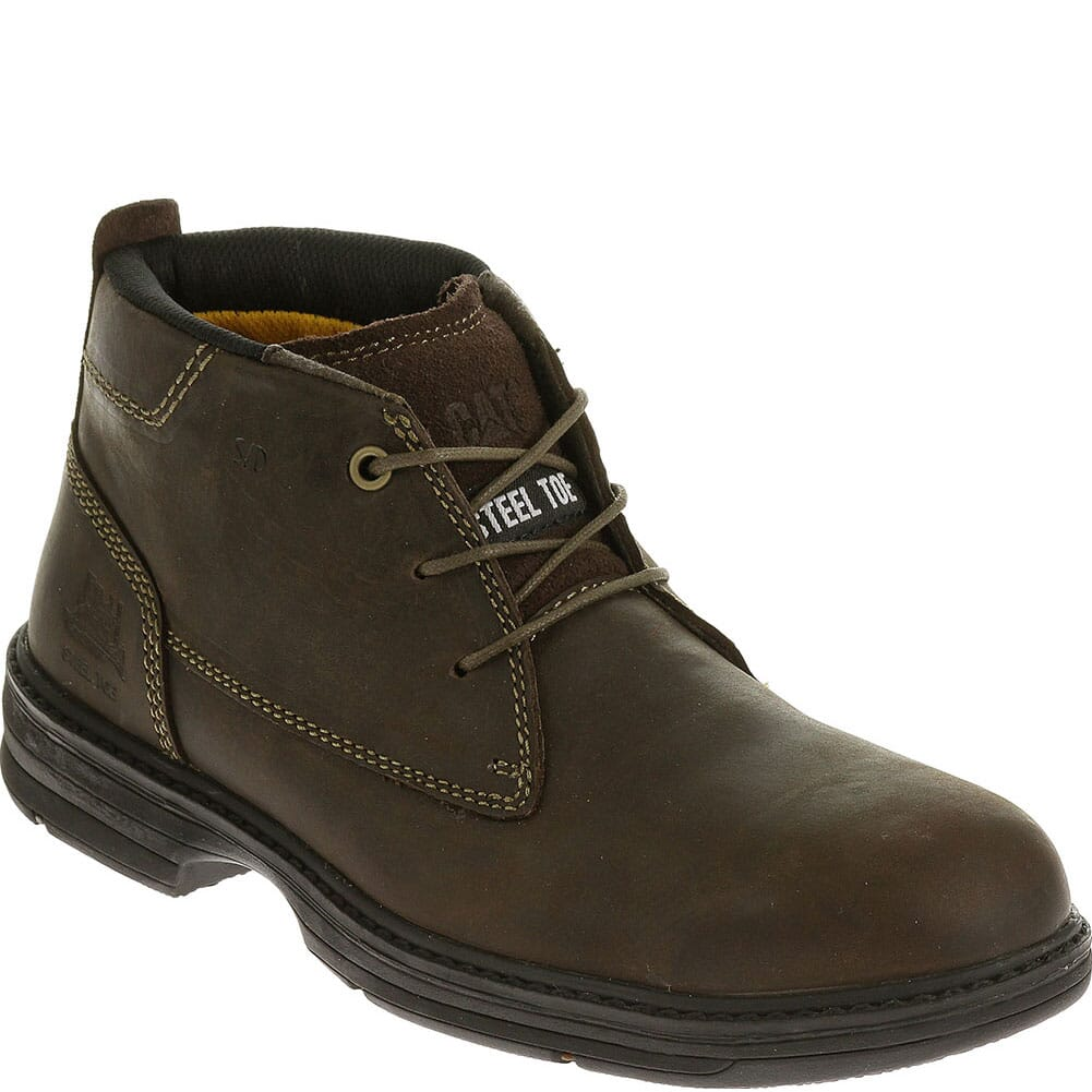 Image for Caterpillar Men's Inherit Mid Safety Boots - Brown from bootbay