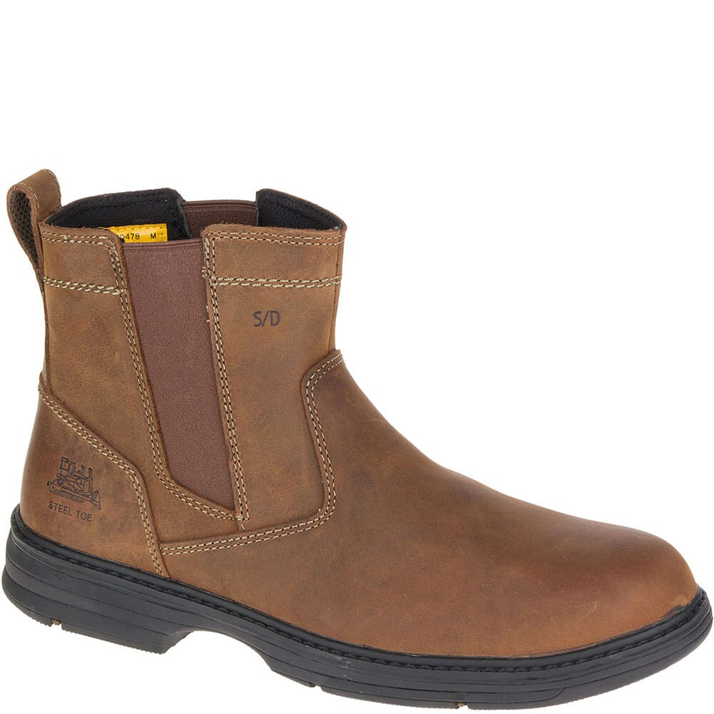 Image for Caterpillar Men's Inherit Pull On Safety Boots - Brown from bootbay