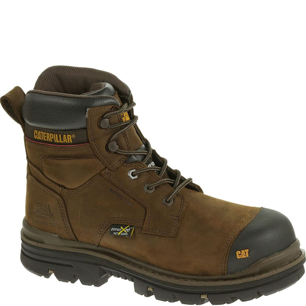 Image for Caterpillar Men's Rasp Met Guard Safety Boots - Dark Brown from bootbay