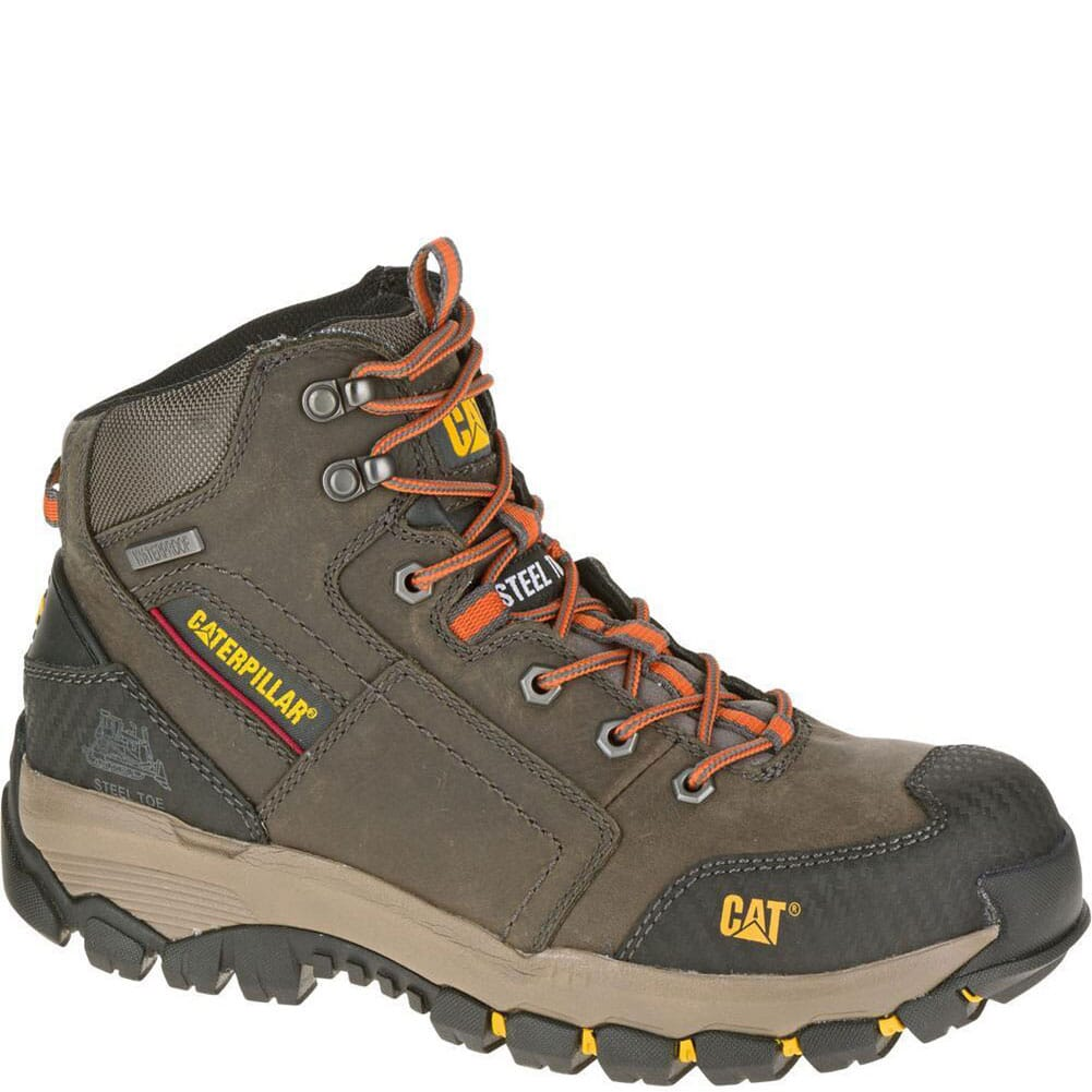 Image for Caterpillar Men's Navigator Mid Safety Boots - Dark Gull Grey from bootbay