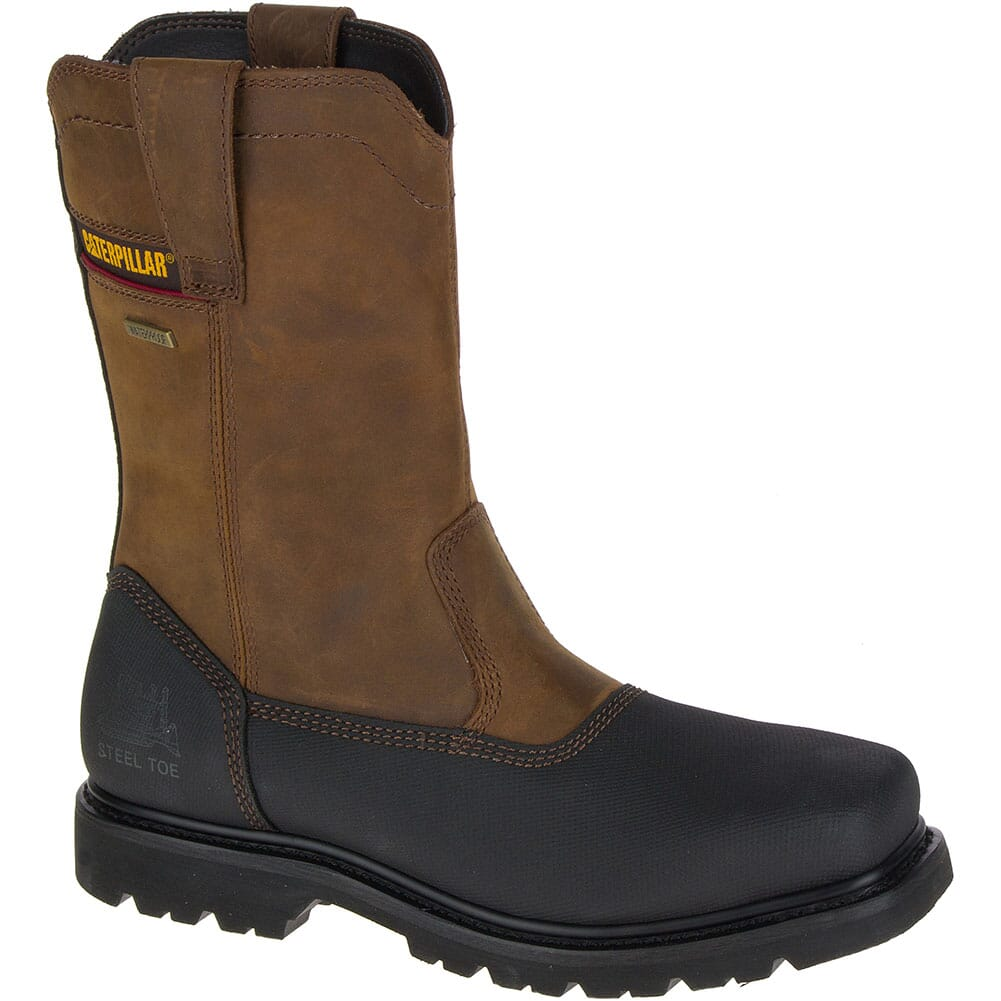 Image for Caterpillar Men's Canyon Pull on WP Safety Boots - Brown from bootbay