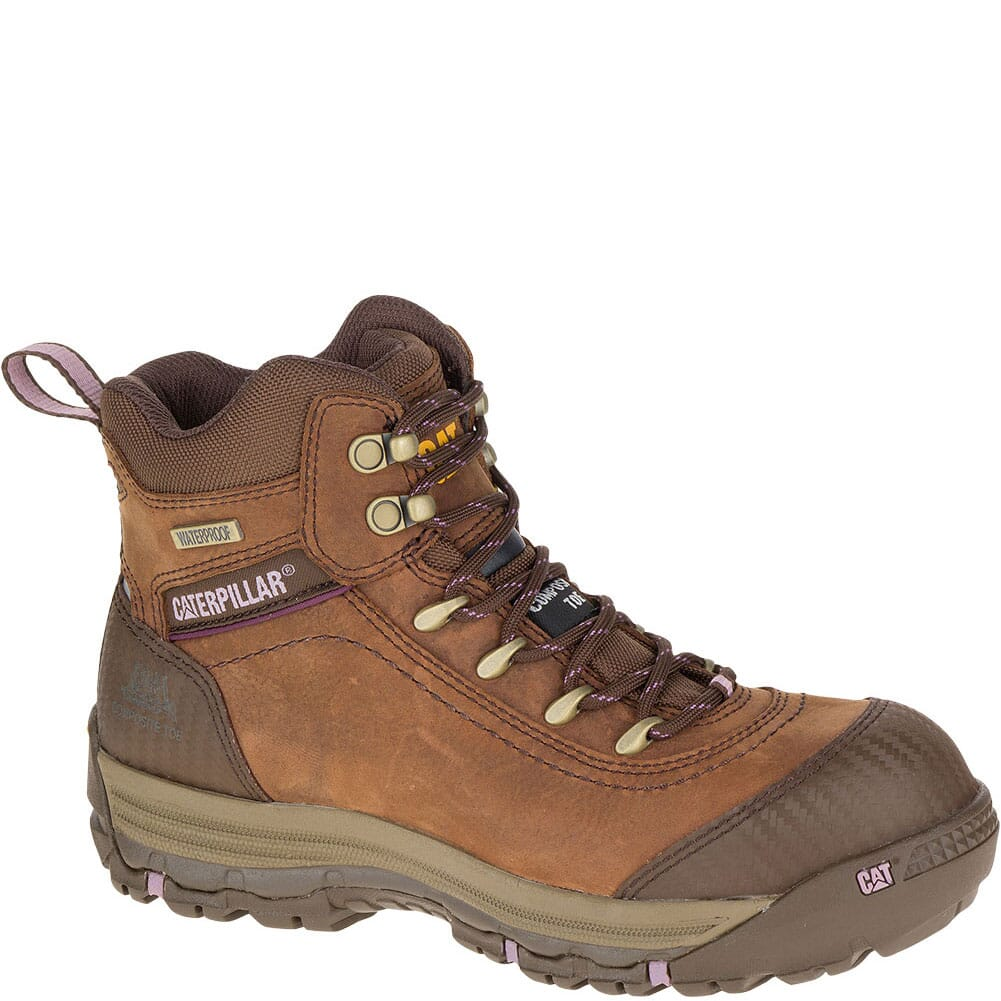 Image for Caterpillar Women's Ally WP Safety Boots - Brown from bootbay
