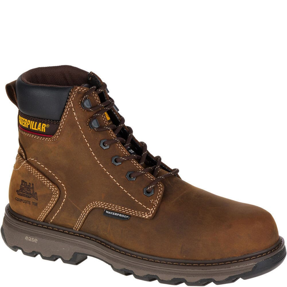 Image for Caterpillar Men's Precision WP Safety Boots - Dark Brown from bootbay
