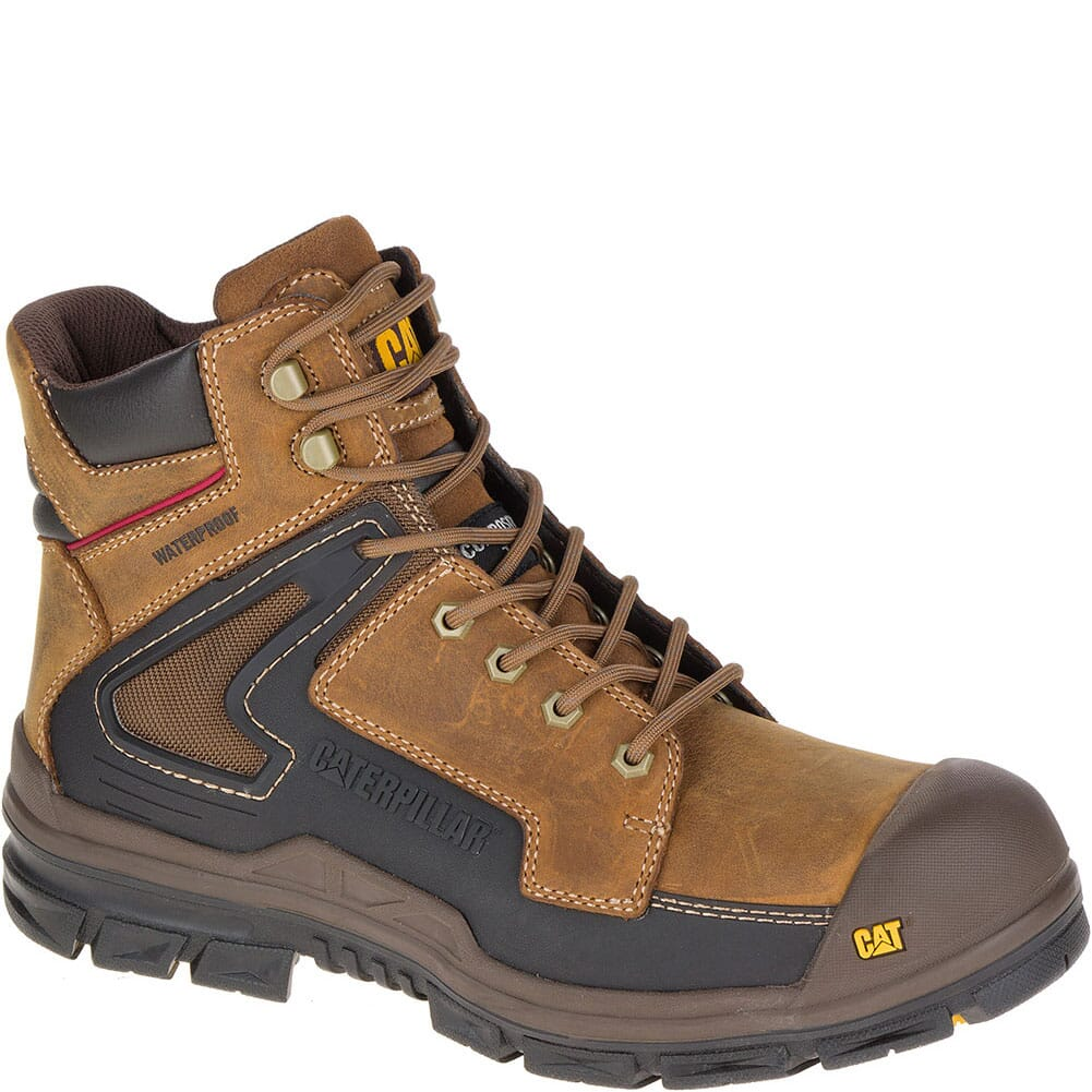 Image for Caterpillar Men's Chassis Waterproof Safety Boots - Dark Beige from bootbay