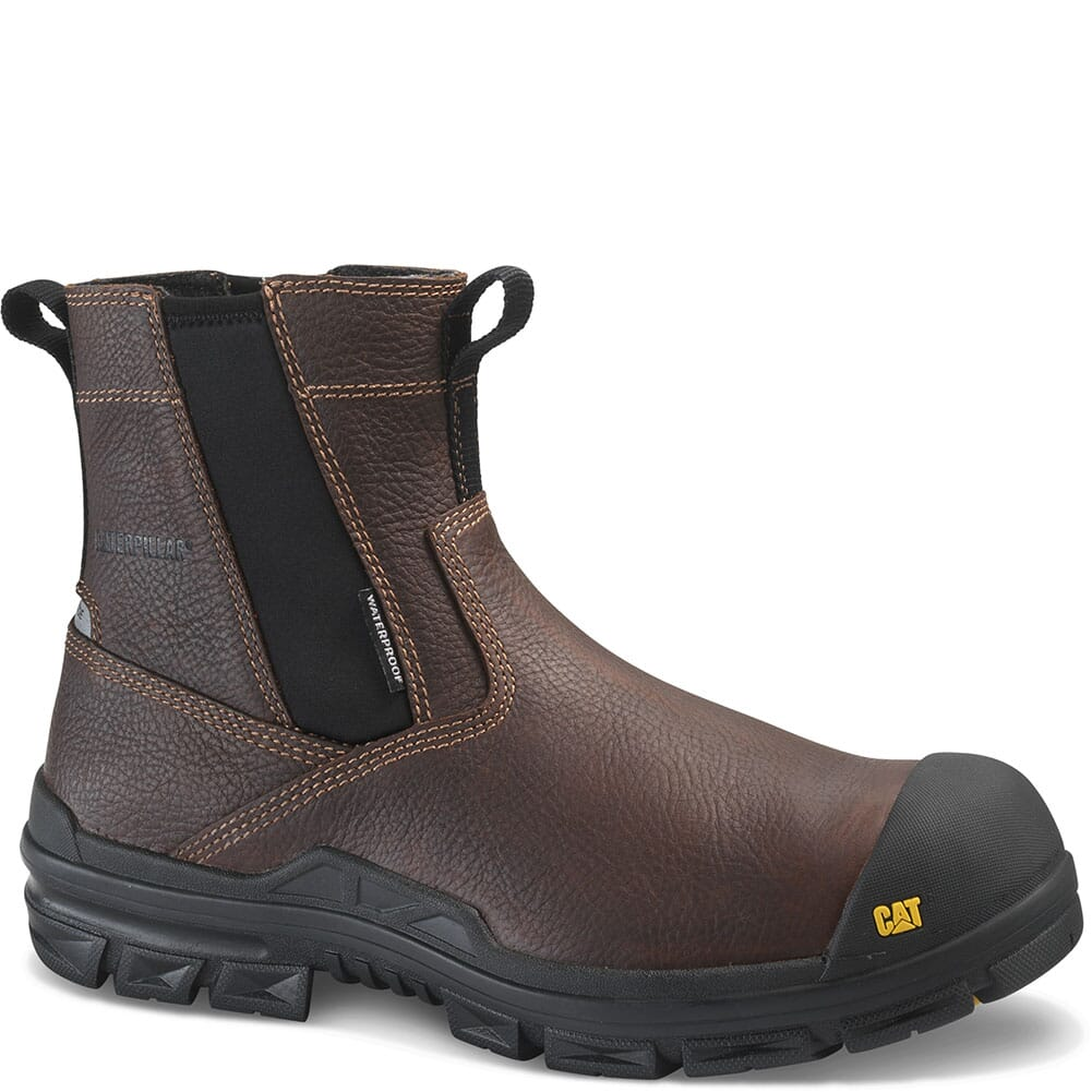 Image for Caterpillar Men's Throttle WP Safety Boots - Tan from bootbay