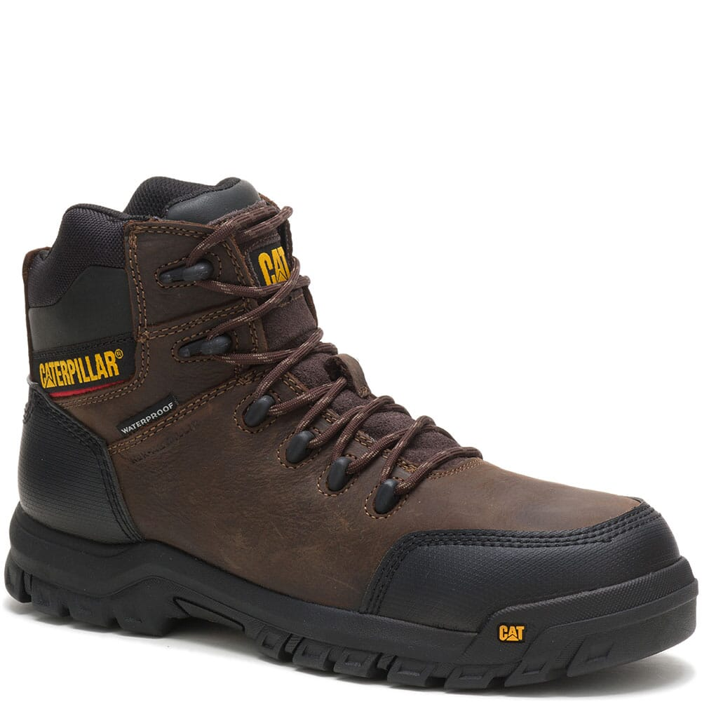 Image for Caterpillar Men's Resorption WP Comp Toe Safety Boots - Seal Brown from bootbay
