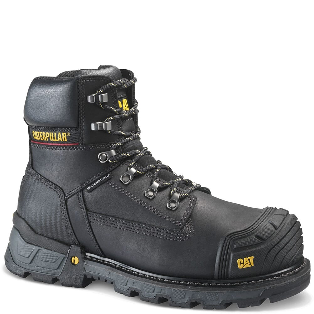 Image for Caterpillar Men's Excavator XL Safety Boots - Black from bootbay